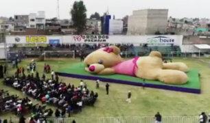 Rompen récord con el oso de peluche más grande del mundo en México