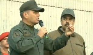 Venezuela: Maduro aparece junto a militar acusado de conspirador