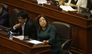 Pleno del Congreso suspendió por 120 días a parlamentaria María Elena Foronda