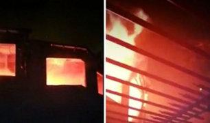 Vecinos dicen que oyeron explosión durante incendio en La Molina