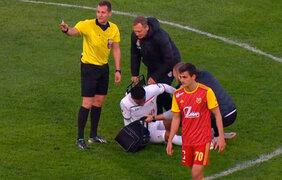 VIDEO: Jefferson Farfán se lesionó durante encuentro con el Arsenal Tula