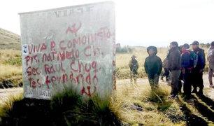 Cusco: investigan pintas halladas ligadas presuntamente al terrorismo
