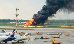 Rusia: se elevó a 41 los muertos por incendio de avión en pista de aterrizaje