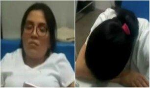 Enfermeras son captadas durmiendo en vez de atender a heridos de accidente