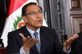 """Presidente Vizcarra: """"Maltrataron a policías en el Congreso"""""""