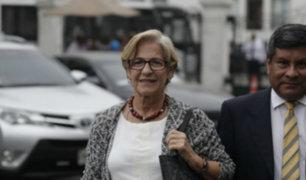 Congreso: Susana Villarán no respondió sobre declaraciones de Jorge Barata