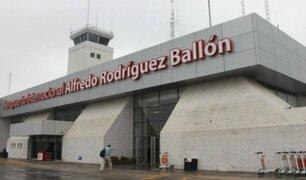Arequipa: amenaza de bomba paraliza actividades en aeropuerto