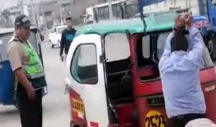 VES: conductor destruyó su mototaxi para evitar decomiso