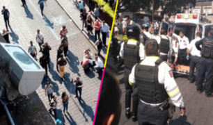 Se desata balacera durante manifestación de comerciantes ambulantes [VIDEO]