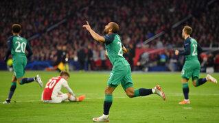 Tottenham a la final de la Champions League tras voltearle el partido al Ajax