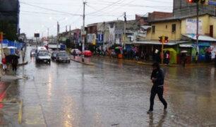 Senamhi advierte lluvias de moderada intensidad en siete regiones del país