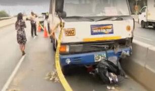 Cercado de Lima: cúster atropella a trabajadora de limpieza