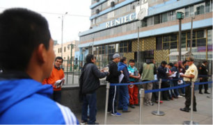 Reniec: representante de los trabajadores explicó los motivos de la huelga indefinida