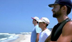 Diego Elías y Ángelo Caro cumplieron reto de surf en Punta Hermosa