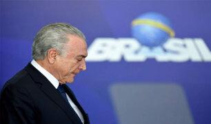 Michel Temer, ex presidente de Brasil, se entregó a la policía
