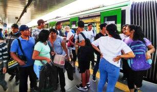 Metro de Lima: usuarios reportaron cortocircuito en la estación San Carlos [VIDEO]