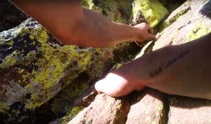 VIDEO: escalador sin equipos de protección registró su escalofriante caída