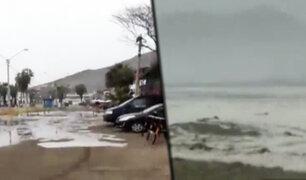 Fuerte marejada azotó esta mañana el litoral de Lima