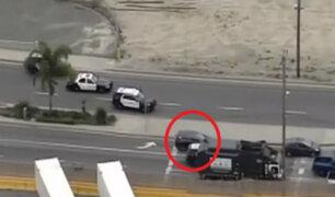 EEUU: impresionante persecución terminó en tiroteo en carretera de Los Ángeles