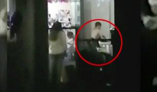 Policía graba golpiza de un hombre a su pareja dentro de vivienda en Breña