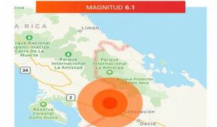Panamá: sismo de 6.1 se registró cerca de la frontera con Costa Rica