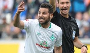 Claudio Pizarro llegó a su partido 300 con el Werder Bremen