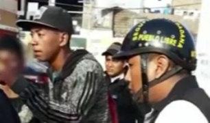 San Miguel: banda integrada por menores de edad robaba al paso