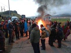 Vías bloqueadas y enfrentamientos en diversas regiones durante paro agrario