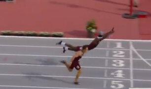 Atleta se lanza de cabeza para ganar campeonato en Estados Unidos