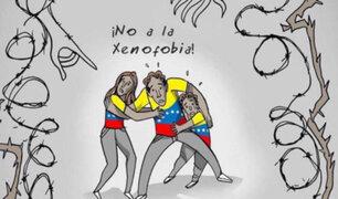 Surco: pintan frases xenófobas en contra de ciudadanos venezolanos