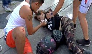 Mujer embarazada resulta herida tras aparatoso accidente