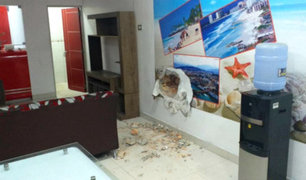 Iquitos: delincuentes hacen forado y roban S/50 mil de agencia de viajes