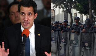 Venezuela: Guaidó alerta que el oficialismo está tratando de cerrar el Parlamento