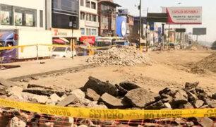 Caos en avenidas Pachacútec y Los Héroes por obras de los Panamericanos