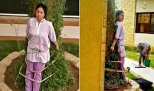 Trabajadora del hogar fue atada a un árbol como castigo