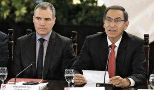 Presidente Vizcarra y premier Del Solar se reúnen con bancadas del Congreso