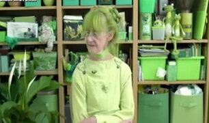 La dama de verde: mujer estadounidense vive obsesionada con ese color