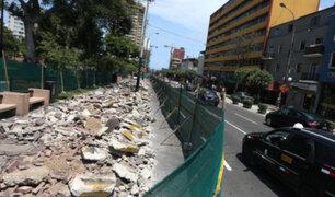 Obras en Miraflores causan molestias en peatones, empresarios y ciclistas