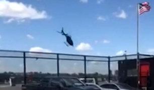 Estados Unidos: helicóptero se estrella en el río Hudson
