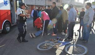 Ciclista fallece tras ser embestido por minibús en Tacna