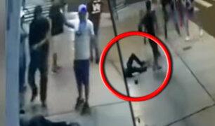 Chimbote: captan brutal agresión a hombre fuera de discoteca