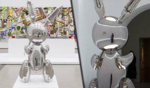 Escultura de un conejo de acero es vendida en 91 millones de dólares