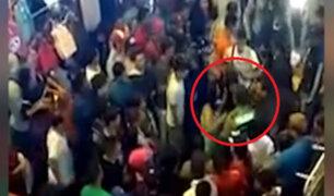 Estación Gamarra: policía fue agredido por comerciantes ambulantes extranjeras