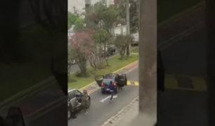 Surco: Depincri investiga asalto en avenida Las Nazarenas