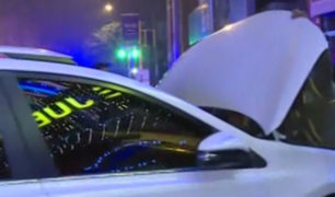 Chofer ebrio empotró su vehículo contra casino en Lince