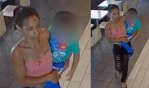 Captan a mujer intentando secuestrar a niño en conocido restaurante de comida rápida