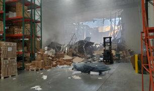 Cae avión militar de EEUU en un depósito