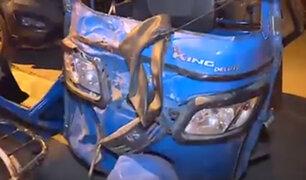 San Martín de Porres: mujer mototaxista muere en choque con camión recolector de basura
