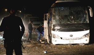 Egipto: más de 15 heridos deja explosión de autobús turístico