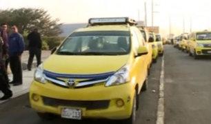 Lurín: taxistas se congregan para marchar contra peajes